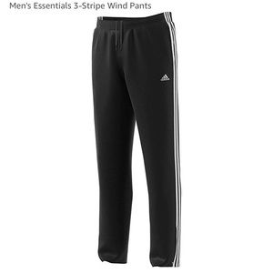 Men's Adidas 3 Stripe Wind Pants